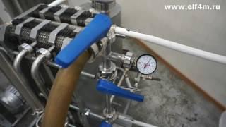 Видео: Комплект оборудования для пастеризации (проточный пастеризатор-охладитель молока) ИПКС-013-500. Демонстрация работы.