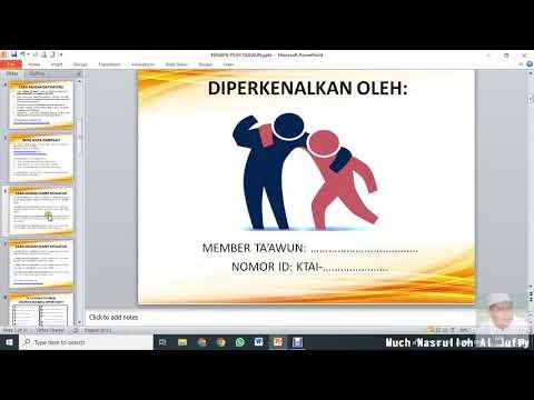 Penjelasan Program Komunitas Ta'awun Al Ikhsan Dengan Slide Power Point
