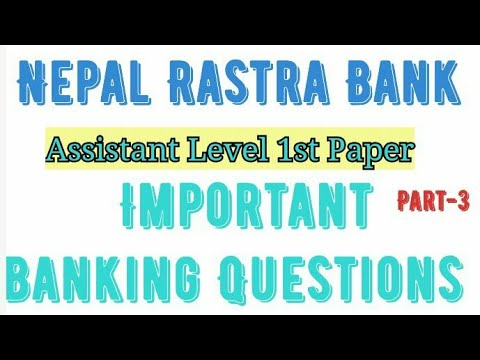 (Banking MCQ for Nepal rastra Bank First &Second Paper // #35 mcq Question - Duration: 11 minutes.)