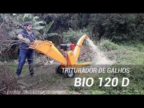 Triturador de Galhos com motor diesel Bio 120 D