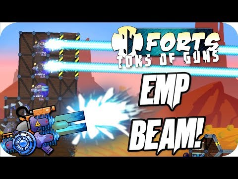Forts Multiplayer 4v4 Gameplay EMP Beam, Anti Grav Balloons & More!