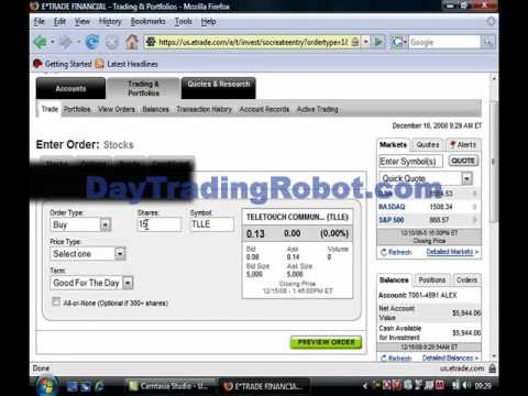 Start Earning From Stocks! Cheapest Automated Online Stock Market Day Trading Software