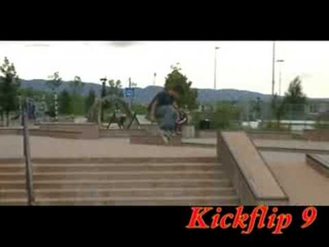Kickflip 9 Stair