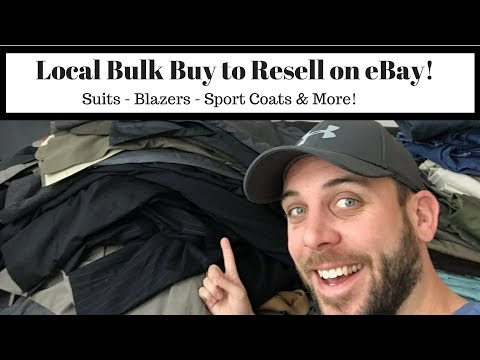 Bulk Purchase Haul to Sell on eBay! Suits, Blazers, Sport Coats and More!