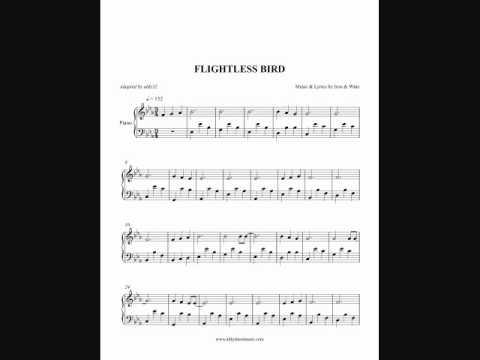 Iron And Wine Flightless Bird American Mouth Piano Sheet Music