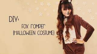 DIY: THE FOX {Halloween Costume} - YouTube