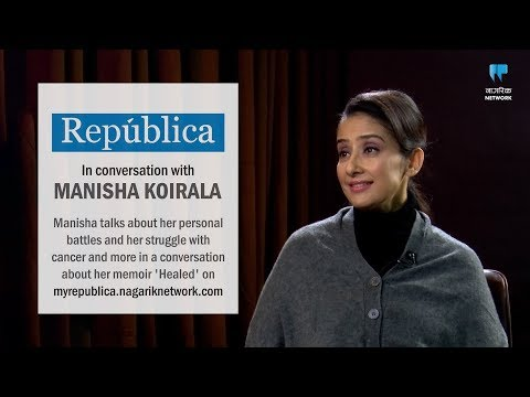 (In conversation with Manisha Koirala on her memoir 'Healed' - Duration: 40 minutes.)