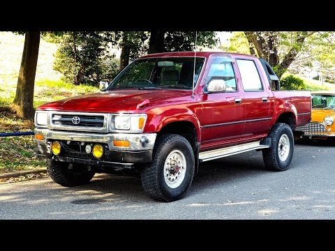1991 Toyota Hilux Pickup Diesel 5sp Double Cab (USA Import) Japan Auction Purchase Review