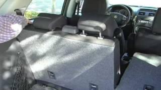 2009 Suzuki SX4 Crossover Review - Cargo Space