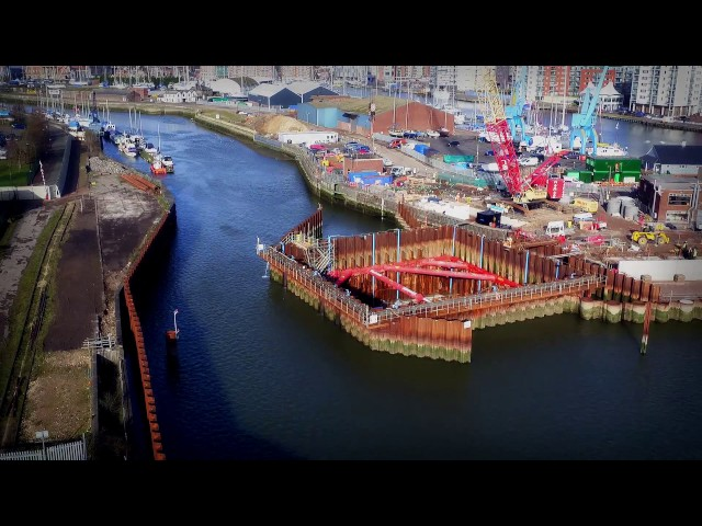 Ipswich Tidal Barrier Construction