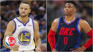 Steph Curry scores 33, Russell Westbrook struggles   Warriors vs. Thunder   NBA Highlights