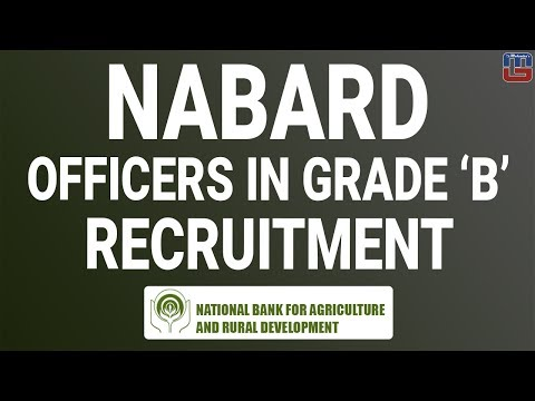 NABARD | Officers in Grade 'B' (RDBS) | Recruitment