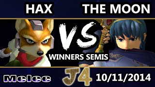 The Moon breathing creative life into Marth (Hax vs. The Moon @ Justice 4)