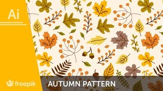 Video How to create a fall Pattern in Adobe Illustrator - Alba Zapata | Freepik MP3, 3GP, MP4, WEBM, AVI, FLV September 2018