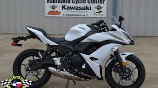 7. $7,799:  2017 Kawasaki Ninja 650 ABS Pearl Blizzard White Overview and Review