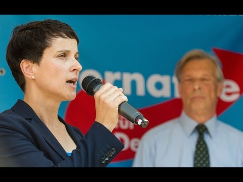 Demo 2016: FRAUKE PETRY in Hannover / AfD Kundgebun ...