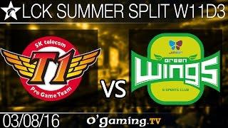SKT T1 vs Jin Air Green Wings - LCK Summer Split 2016 - W11D3