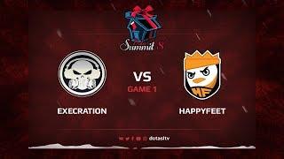 Execration против HappyFeet, Первая карта, Квалификация на Dota Summit 8