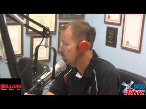 "Holland School Superintendent Brian Davis talked about back-to-school events and new Board members during his monthly visit with Juke Van Oss on WHTC's ""Talk of the Town"" Aug. 19, 2014."