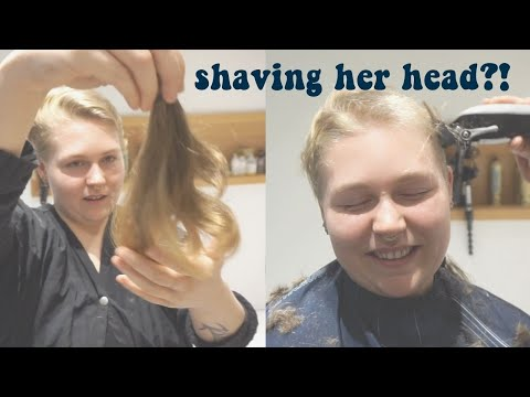 Download Cute Blonde Shaves Her Head Blonde Hair Aesthetic Mp4