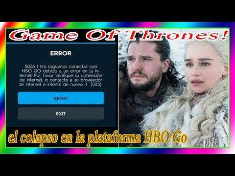 Game Of Thrones! el colapso en la plataforma HBO Go. La verdadera razón está aquí.