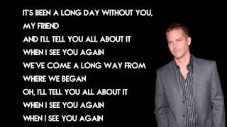 Nonton Wiz Khalifa - See You Again ft. Charlie Puth Furious 7 Soundtrack Lyrics Film Subtitle Indonesia Streaming Movie Download