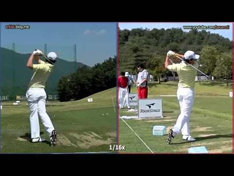 [300FPS SLOW] Rory McIlroy – Iron Golf Swing, Front and Rear Dual View (11)