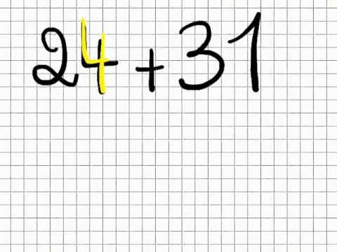 Le calcul reflechi, l'addition de deux nombres à deux chiffres.