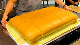Video GIANT SPONGE CAKE | Original Taiwanese Sponge Cake by CASTELLA TAIWAN MP3, 3GP, MP4, WEBM, AVI, FLV Agustus 2019