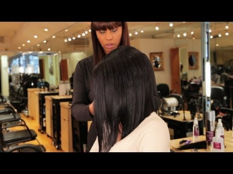 Hair Weave Tutorial: How to Make an Invisible Part, Pt. 2 | Black Hairstyles