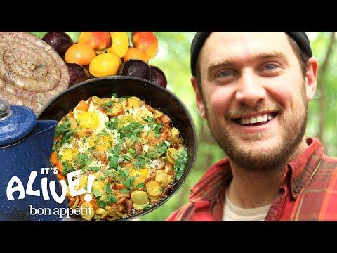 Brad Makes Campfire Breakfast  It's Alive  Bon Appétit