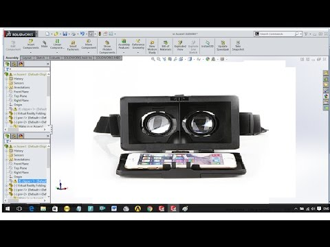 SolidWork Tutorial-Designing Virtual Reality (VR) Folding Glasses For Mobile Phone