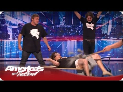 The Nut Mutilation Guy – Nick Cannon Kicks A Contestent In The Nuts – AGT Season 7 Horse Audition