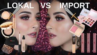 Video Battle setengah muka !  -makeup lokal VS import MP3, 3GP, MP4, WEBM, AVI, FLV Juli 2019