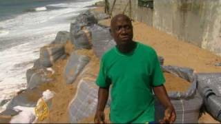 Rising sea levels due to climate change in the Gulf of Guinea are swallowing up large partions of Benin's coastline. The United...