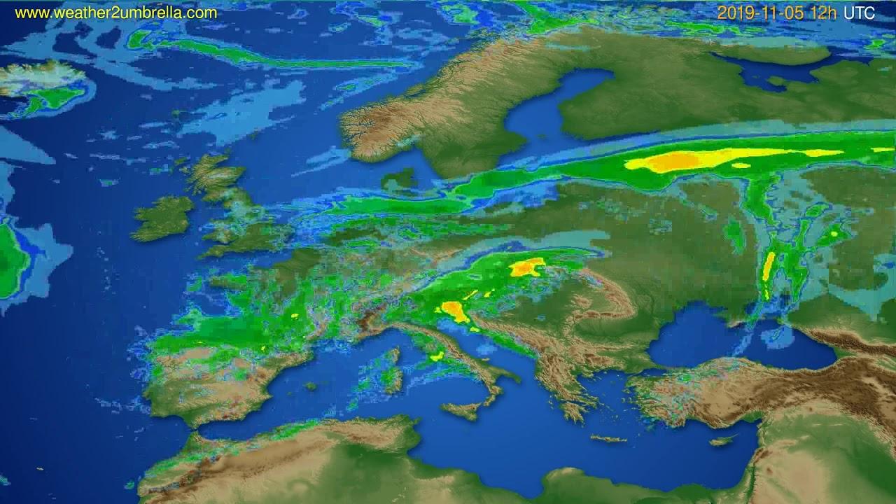 Radar forecast Europe // modelrun: 00h UTC 2019-11-05