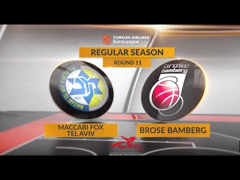EuroLeague Highlights RS Round 11: Maccabi FOX Tel Aviv 70-85 Brose Bamberg