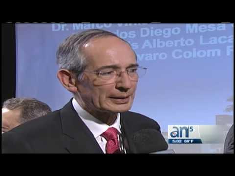 Polémicas declaraciones de Alvaro Colom ex presidente de Guatemala sobre Raul Castro