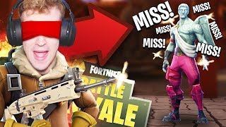 PLAYING FORTNITE BLINDFOLDED CHALLENGE!! - Fortnite: Battle Royale