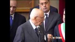 Presidente Napolitano in sala consiliare Cassino