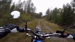 9. Suzuki VanVan 200 shortcut ride through the woods