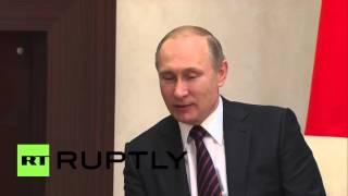 Russian President Vladimir Putin met with the President of the Republic of Abkhazia Raul Khajimba in Novo-Ogarevo, Thursday, to strengthen bilateral relations ...