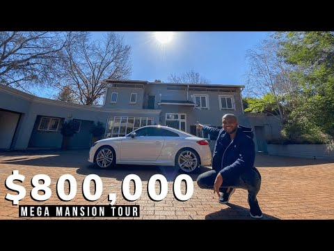 Inside An $800,000 Johannesburg Mega MANSION with A Lawn Tennis Court!