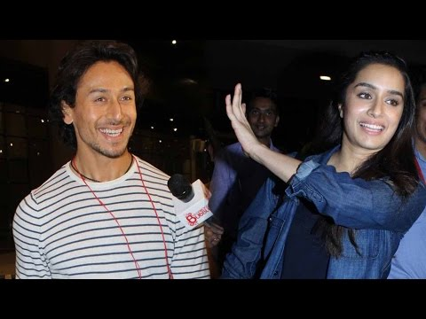 Tiger Shroff And Shraddha Kapoor Fan Friendly At M