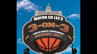 Mayor Ed Lee's 2nd Annual 3-on-3 Youth Hoops Tournament took palce at USF's War Memorial Gym and was sponsored by the...