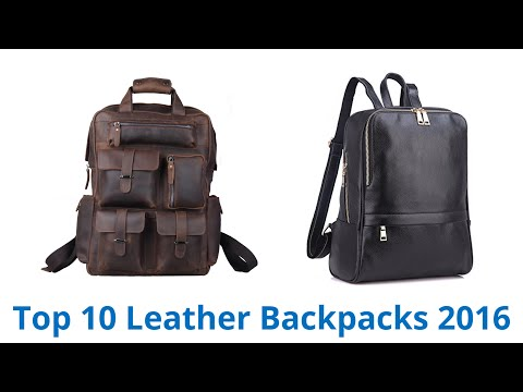 10 Best Leather Backpacks 2016