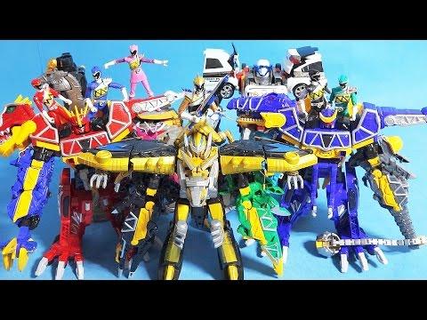 파워레인저 다이노포스 또봇 공룡합체 티라노킹 프테라킹 또봇 쿼트란 장난감 Power Rangers Dino Charge & Tobot toys