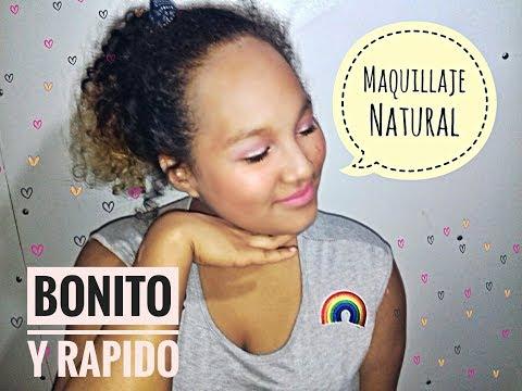 MAQUILLAJE SUPER NATURAL/Adolecente-SOLO USANDO 5 PRODUCTOS