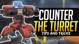 Overwatch HOW TO COUNTER TORBJORN'S TURRET - Tips and Tricks