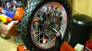 7. Motorcycle Repair: How to Static Balance a Motorcycle Tire Wheel on a 2009 Kawasaki KLR 650